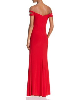 AQUA - Double-Strap Off-the-Shoulder Gown - 100% Exclusive