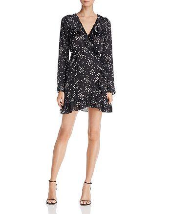 Cotton Candy LA - Ruffled Star Print Wrap Dress