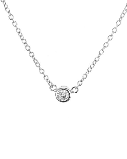 "AQUA - Sterling Silver Pendant Necklace, 15"" - 100% Exclusive"