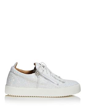 Giuseppe Zanotti - Women's Glitter Leather May London Lace Up Sneakers