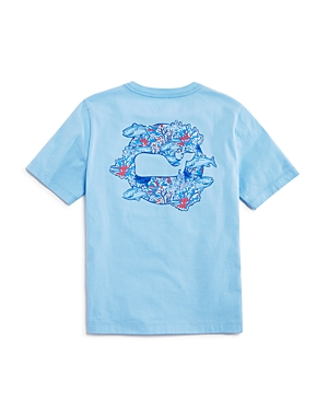 Vineyard Vines Boys' Tuna in Coral Whale Tee - Little Kid