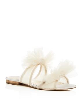 Isa Tapia - Women's Nicoletta Tulle Bow Slide Sandals