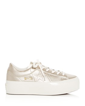 Converse - Women's One Star Leather Lace Up Platform Sneakers