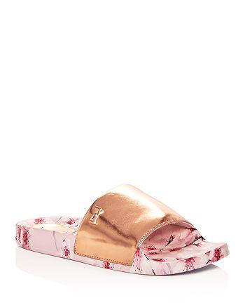 8070e3486ae4 Ted Baker Women s Aveline Leather Slide Sandals