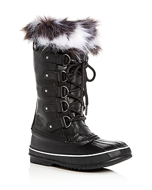 Sorel Women's Joan of Arctic Lux Leather & Faux-Fur Waterproof Cold Winter Boots