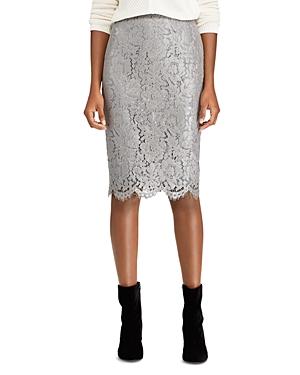 Lauren Ralph Lauren Metallic Lace Pencil Skirt