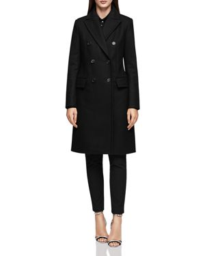 BETTY DOUBLE-BREASTED MILITARY-STYLE COAT