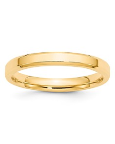Bloomingdale's - Men's 3mm Bevel Edge Comfort Fit Band in 14K Yellow Gold - 100% Exclusive