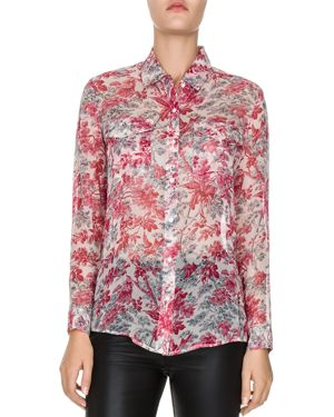 The Kooples Lily of The Valley Silk Shirt