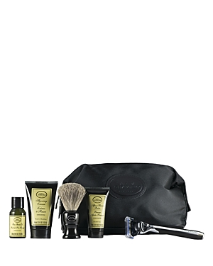 The Art of Shaving Travel Kit with the Morris Park Collection Razor offers the 4 Elements of the Perfect Shave in Tsa-approved travel sizes. The Travel Kit is a perfect initiation to The Art of Shaving regimen. This kit includes a Morris Park Collection Razor in black, a shaving brush, a black travel bag made of nylon with faux leather trim, a 1 oz. Pre-Shave Oil - Unscented, a 1.5 oz. Shaving Cream - Unscented and a 1 oz. After-Shave Balm - Unscented. This set will deliver the clean close and c