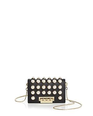 Zac Zac Posen Earthette Faux-Pearl Chain Strap Leather Card Case