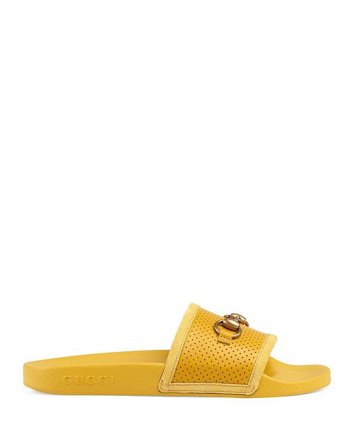 a01ff66d6 Gucci - Women s Pursuit Horsebit Leather Slides