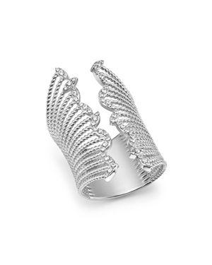 Bloomingdale's Diamond Wide Statement Open Ring in 14K White Gold, 0.50 ct. t.w. - 100% Exclusive