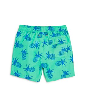 TOM & TEDDY - Boys' Pineapple Print Swim Trunks - Big Kid