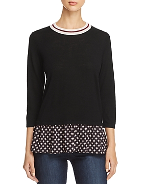 kate spade new york Mixed-Media Peplum Sweater