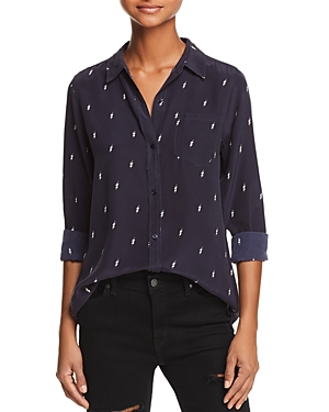 Rails Kate Lightning Print Silk Shirt