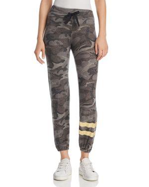 Sundry Camouflage Foil-Stripe Sweatpants