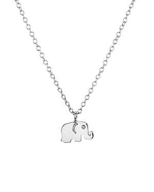 Aqua Sterling Silver Elephant Pendant Necklace, 16 - 100% Exclusive
