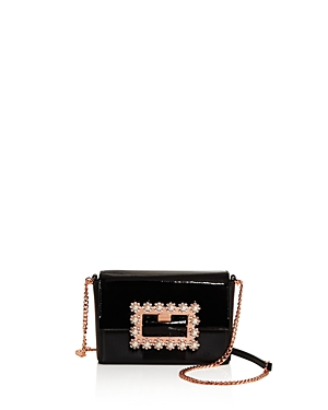 Ted Baker Leathers PEONYY EMBELLISHED BUCKLE LEATHER CLUTCH