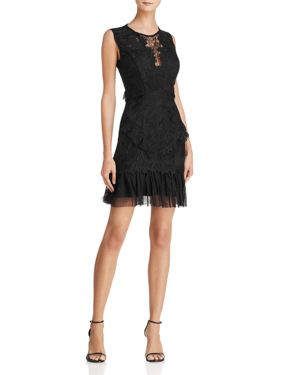 Bardot Francesca Lace & Mesh Dress