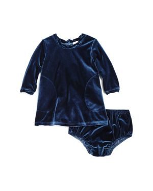 Splendid Girls' Velour Dress & Bloomers Set - Baby 2734859