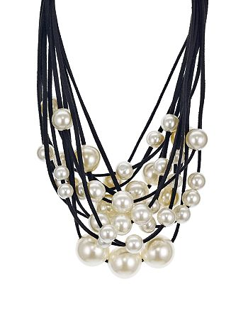 "AQUA - Layered Statement Collar Necklace, 14"" - 100% Exclusive"