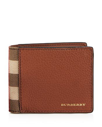 Burberry - Grainy Leather and Canvas Check Wallet