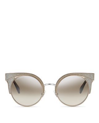 d46bcc830eae Jimmy Choo Women S Oras Mirrored Cat Eye Sunglasses