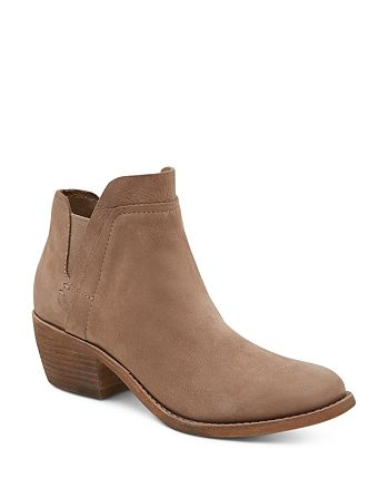 Dolce Vita - Women's Zabi Nubuck Leather Mid Heel Booties