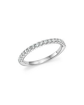 Bloomingdale's - Diamond Band with Beaded Accent in 14K White Gold, 0.35 ct. t.w. - 100% Exclusive