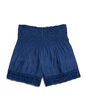 Vintage Havana Girls Smocked Chambray Shorts  Big Kid