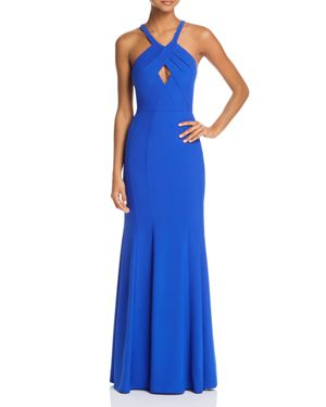 DECODE 1.8 Keyhole Gown in Royal