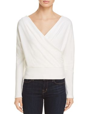 Kenneth Cole Crossover Dolman-Sleeve Top