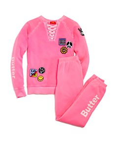 Butter Girls' Love Patches Sweatshirt & Jogger Pants - Big Kid - Bloomingdale's_0