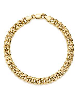 Bloomingdale's Men's Classic Chain Bracelet in 14K Yellow Gold - 100% Exclusive