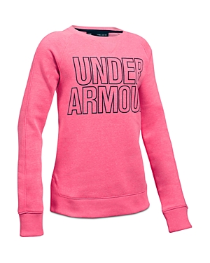 Under Armour Girls' Logo Sweatshirt - Big Kid