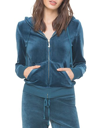 Juicy Couture Black Label - Luxe Robertson Velour Hoodie