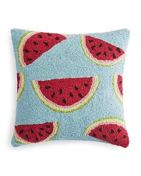 "Peking Handicraft - Watermelon Decorative Pillow, 16"" x 16"""