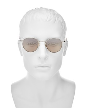 GARRETT LEIGHT - Men's Wilson Mirrored Round Sunglasses, 49mm