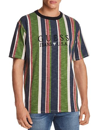 208e896277 GUESS 81 Sayer Stripe Short Sleeve Tee | Bloomingdale's