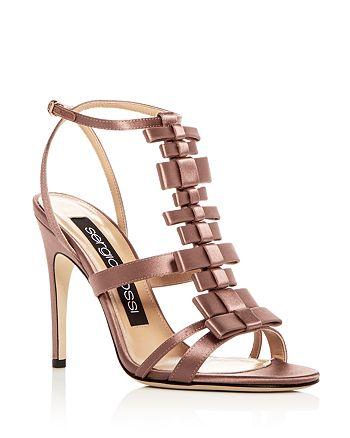 Sergio Rossi - Women's Satin Bow T-Strap High-Heel Sandals