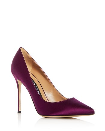 Sergio Rossi - Women's Godiva Satin Pointed Toe Pumps