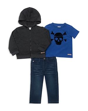 Hudson Boys ZipUp Hoodie Skull Tee  Jeans Set  Baby