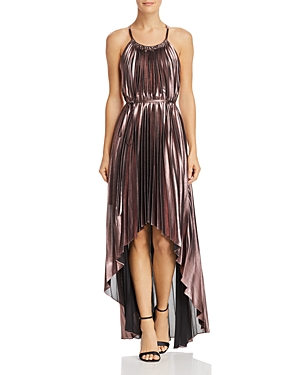 Bcbgmaxazria Pleated Halter Dress