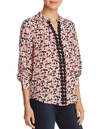 kate spade new york - Small Blooms Silk Blouse