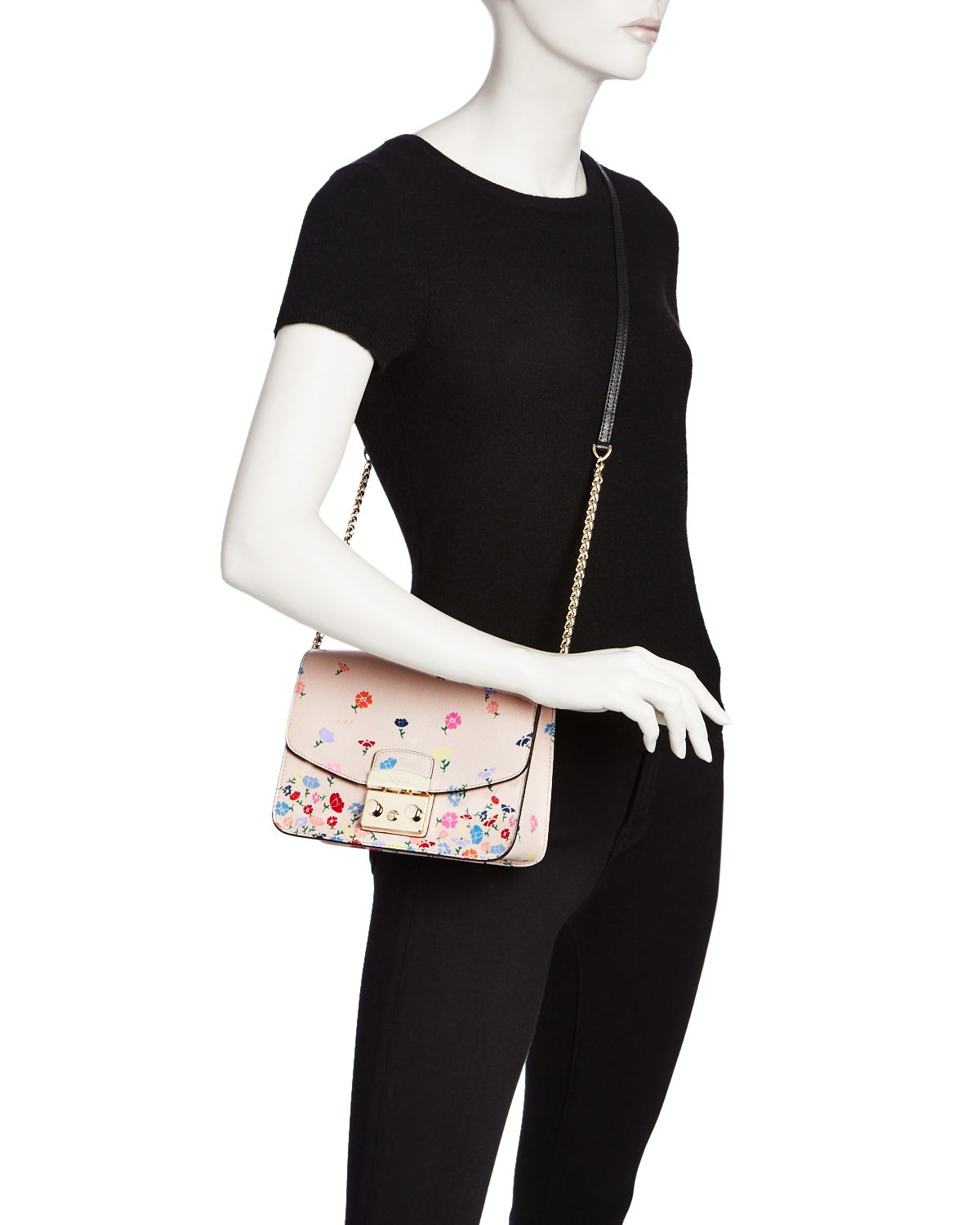 Metropolis Floral Small Leather Bag   100 Percents Exclusive by Furla