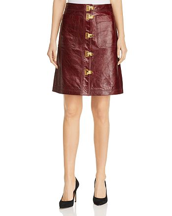 27a8a53f4bc85 Tory Burch - Bianca A-Line Leather Skirt