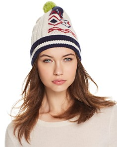 Burberry Cable Fair Isle Beanie - Bloomingdale's_0