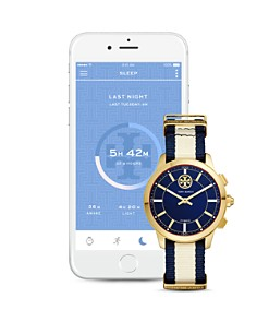 Tory Burch - ToryTrack Collins Two-Tone Hybrid Smartwatch, 38mm
