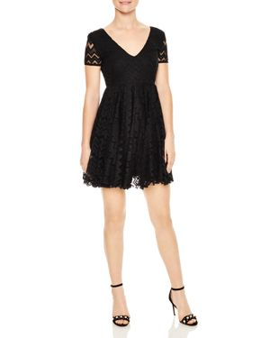 Sandro Eve Lace & Embroidery Mini Dress